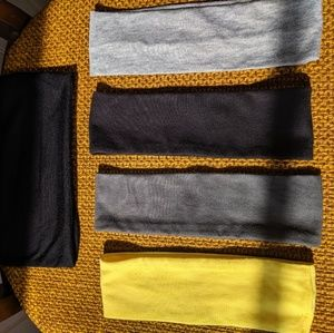 NWOT 5 five headbands black Heather gray yellow